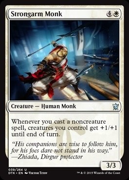 Magic: the Gathering - Strongarm Monk (039/264) - Dragons of Tarkir