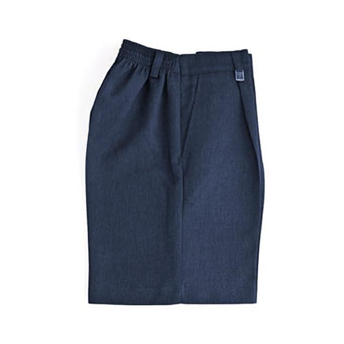 ef3f3f3ce345b Escuela Niños uniforme resistente ajuste mitad parte trasera elástica  pantalones cortos todos los tamaños gris  Amazon.es  Ropa y accesorios
