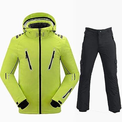 QZHE Traje de esqui Traje De Esquí Hombres Chaqueta De Esquí ...