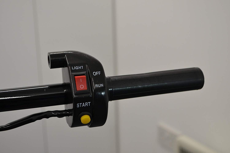 Cafe Racers Moto Rapido Meccanismo Acceleratore con Interruttore /& Pulsante di Avviamento per 22mm Manubrio Street Moto,Streetfighter Scrambler