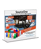 Source One 11 x 8.5 Inches Sign Holder Upright Clear Acrylic Display Ad Frame (25 Pack)