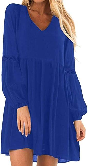 Sukienka plażowa w linii A, z wycięciem w kształcie litery V, sukienka damska, sukienka na wieczÓr, studniÓwkę, z falbankami, minisukienka w stylu vintage, z dekoltem w kształcie litery V: O