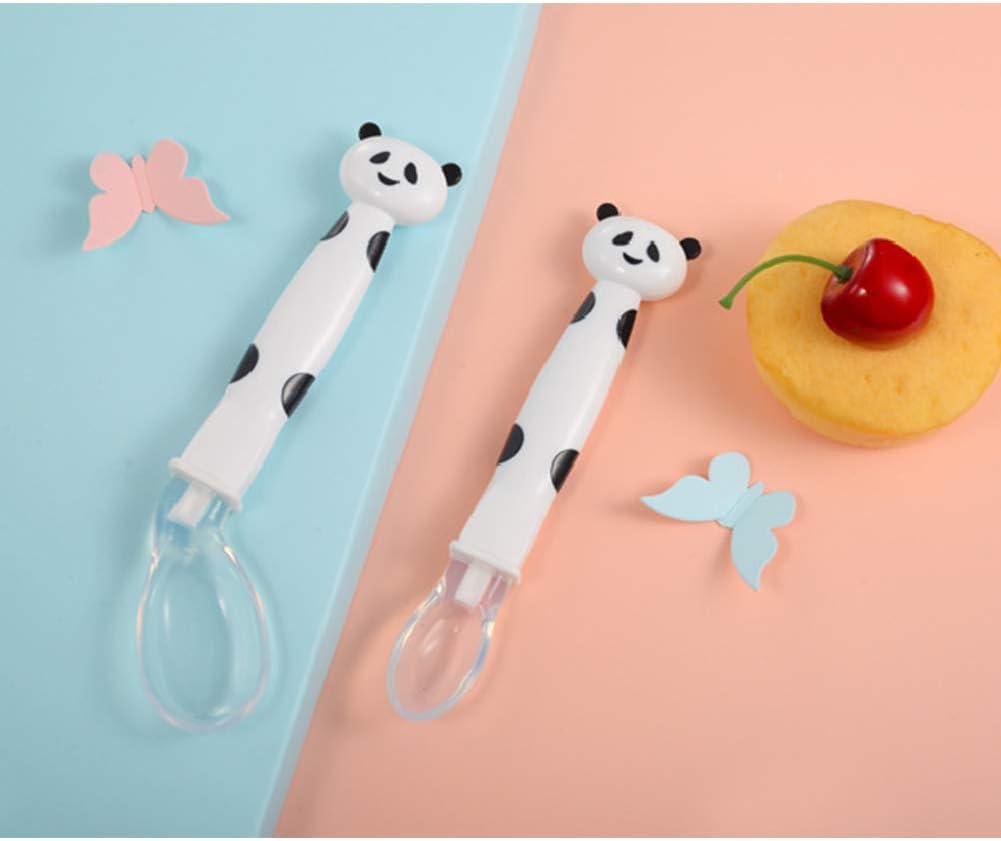 Wudi Baby-Karikatur-Silikon-weicher Kopf Essl/öffel L/öffel Elbow Praktische E/ßl/öffel Zusammen-Wei/ß zu Essen und Trinken