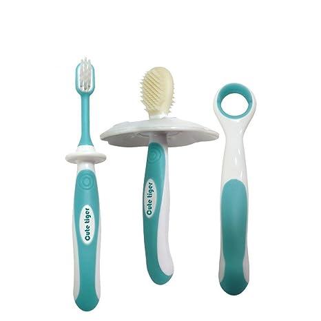 Yiwa Training Cepillo de dientes para bebés Cuidado dental para el entrenamiento Cepillos de dientes para