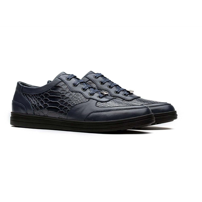 OPP Chaussures en Cuir Baskets Modèle Crocodile Pour Hommes (41EU Noir) woThIhisdS