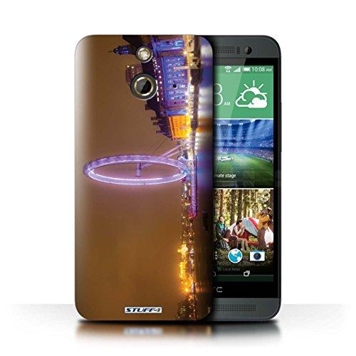 Kobalt® Imprimé Etui / Coque pour HTC One/1 E8 / London Eye conception / Série Londres Angleterre
