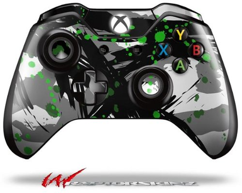 Abstract 02 Green - Decal Style Skin fits Microsoft XBOX One Wireless Controller (CONTROLLER NOT INCLUDED)