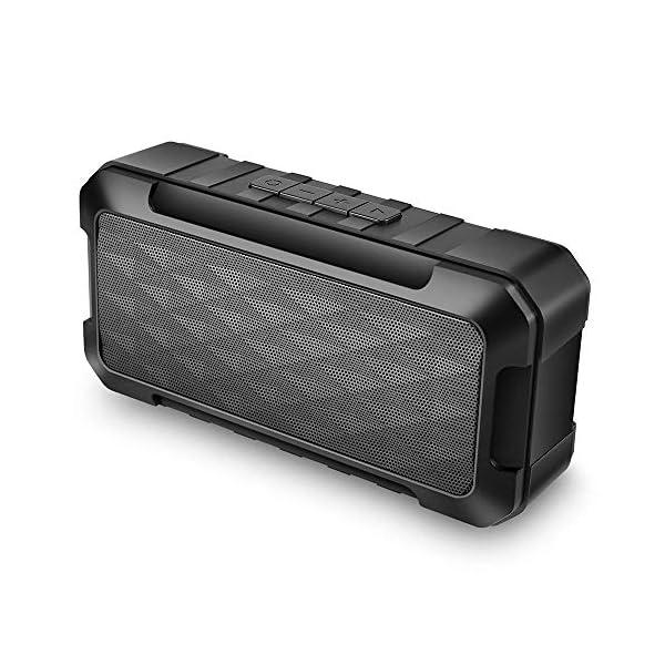 Enceinte Bluetooth Portable, 5W Haut-Parleur Bluetooth sans Fil avec autonomie de 10 Heures, Basses Puissantes, Mains Libres Téléphone, Carte TF Support, Microphone et Chargement USB 1