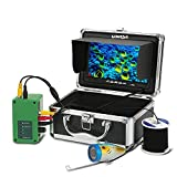 Lixada Fish Finder IP68 Underwater Fishing Camera 1000TVL 7'' Color LCD Fishing Video Camera Kit 15m Cable 4500mAh Rechargeable Battery Night Version for Ice, Lake and Boat Fishing