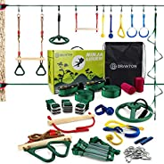 Ninja Warrior Obstacle Course for Kids - Ninja Slackline with Most Complete Accessories for Kids, 2 Slacklines