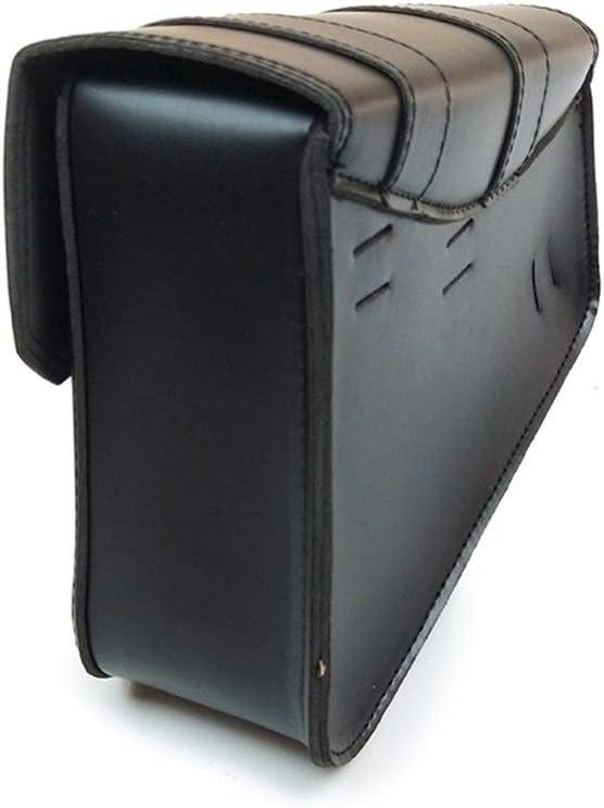 XUCZHAI for XL Moto Selle Sacs PU Sac en Cuir c/ôt/é Outil Bagages Noir et Brown Sacoche Moto