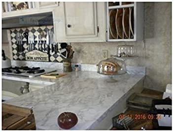 Countertop Paint? No Instant White Italian Marble Not your Grandma\'s ...