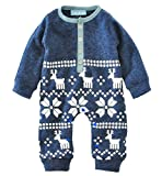 Product review for Mullsan Newborn Baby Fireplace Romper Christmas Clothes Knitted Sweaters Reindeer Outfit 2 to18months