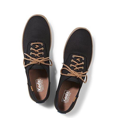 Keds Men's Champion Seasonal Solid Fashion Sneaker, Black/Gum, 8 M (Mens Keds)