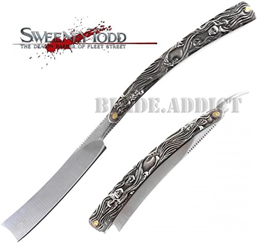 Straight Razor Pocket Knife HUGE 11.5