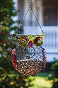 Harvest Shimmer Owl Birdfeeder