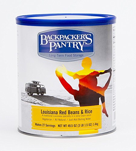 Backpacker's Pantry Louisiana Red Beans and Rice, # 10 Can - 49.5 Ounces (27 Serving), Emergency Food, Freeze Dried Meal