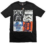 Detroit Tigers MLB Big Boys Youth Star Wars Main Character T-Shirt, Black