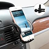 Beam Electronics Universal Smartphones Car Air Vent Mount Holder Cradle Compatible with iPhone 7 7 Plus SE 6s 6 Plus 6 5s 5 4s 4 Samsung Galaxy S6 S5 S4 LG Nexus Sony Nokia and More (Black)