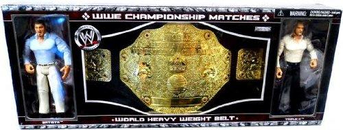 World Wrestling Batista (WWE Jakks Pacific Wrestling Exclusive Action Figure World Heavyweight Title with Batista & Triple H Bundle Pack)