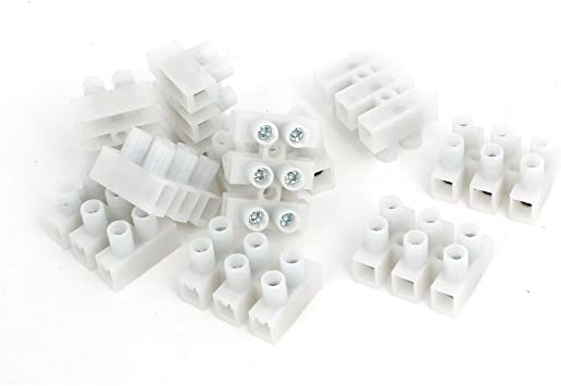 uxcell 500-2P 450V H Type Screw Terminal Blocks Strips Wire Cable Connectors 10pcs
