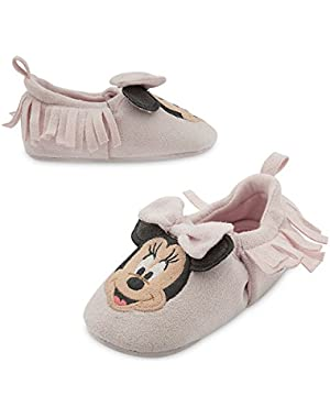 Minnie Mouse Crib Shoe Pink with Fringe 18-24 months Exclusive