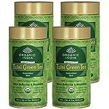 Organic India Tulsi Green Tea 100 Gram Tin (Pack Of 4)