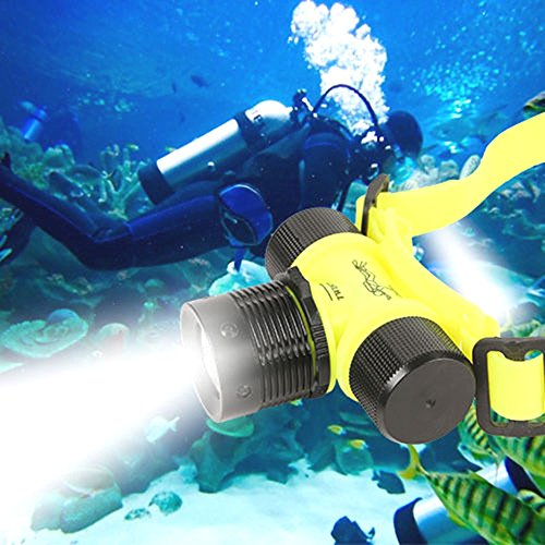 1000LM CREE LED Underwater Waterproof Diving Headlamp Flashlight Torch - Vs Polarized Tinted