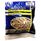 HQ Advance Products Rubber Bands, Natural Color, Assorted Size (35021.P)