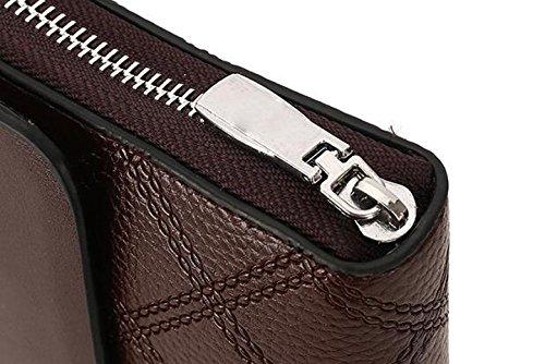 Brieftasche Lange Männer Brieftasche Mode Casual Clutch Bag Handytasche Business-Paket Wilde Luxus-Atmosphäre Black1 7LmJh