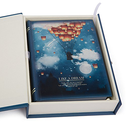 """Like a Dream"" Diary with Lock Notebook Cute Functional Planner Journal (Parachute) from Duckart"