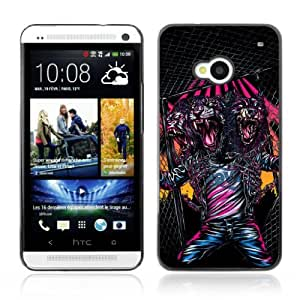 YOYOSHOP [Cool Triple Head Neon Monster] HTC One M7 Case