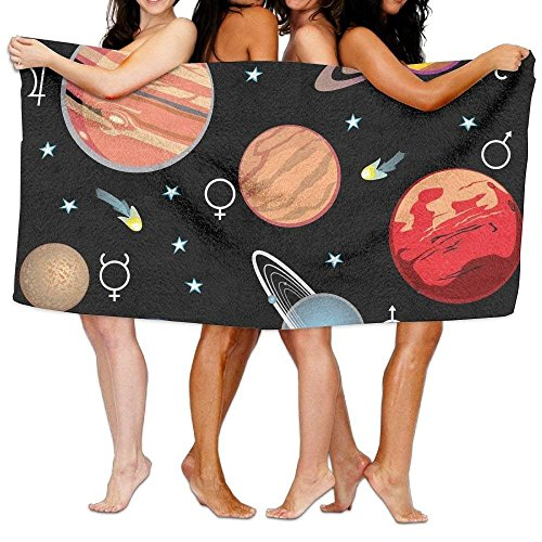 2018 pants Planets Solar System Print Sports Beach Towels by 2018 pants