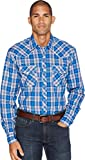 Wrangler Men's Blue Plaid 20X Competition Shirt Blue Large