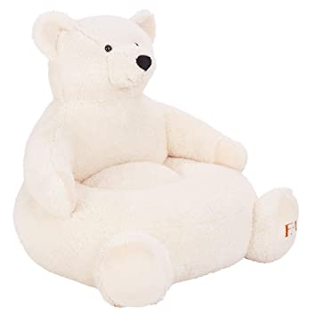 Captivating 20u0026quot; Plush Bear Chair, Cream Is A Teddy Bear Chair With A Thick  Cushioned