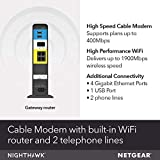 NETGEAR Nighthawk Cable Modem WiFi Router Combo