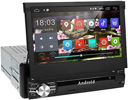 Android 9.0 Radio Coche 1 DIN de Navegación GPS,Autoradio con Bluetooth Manos Libres 7Pantalla Auto retráctil táctil 1080P con CD DVD/USB/FM ...