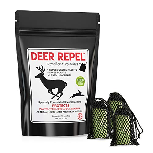 (Deer Repel Deer Repellent Plants Pouches Stop Deer Rabbits Eating Plants Trees Gardens & Orchards, Long Lasting, Chemical Free - 10 Pack)