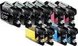 Sherman Ink Cartridges © Ink for MFCJ870DW, MFC-J450DW 10 Pack Replacement Compatible Ink Cartridge LC103 LC-103 4 Black, 2 Cyan, 2 Magenta, 2 Yellow Compatible with Printers MFC-J870DW, MFC-J450DW, MFC-J6920DW, MFC-J650DW