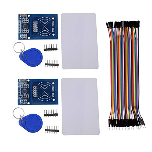 RFID RC522 Module IC Card Reader Read RF Proximity Sensor, with S50 Blank Card, with Key Ring, for Arduino Raspberry Pi Nano NodeMCU(Pack of ()