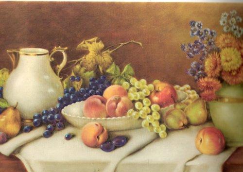 Vintage Print: Fruits an Flowers, by A. Leder