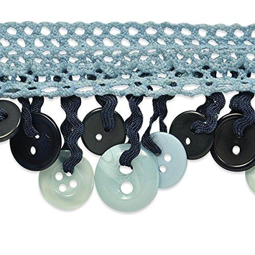 Expo International Ella Crochet Button Fringe Trim, 10 yd, ()