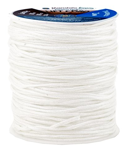 Mandala Crafts Extra Long 1mm 1.5mm 2mm Braided Nylon 109 YD Light Fan Shade Lift Blinds Cord (1.5mm, White) (Vinyl Pleated)
