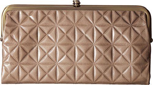 Hobo Womens Leather Vintage Lauren Quilted Embossed Clutch Purse (Ash) by HOBO