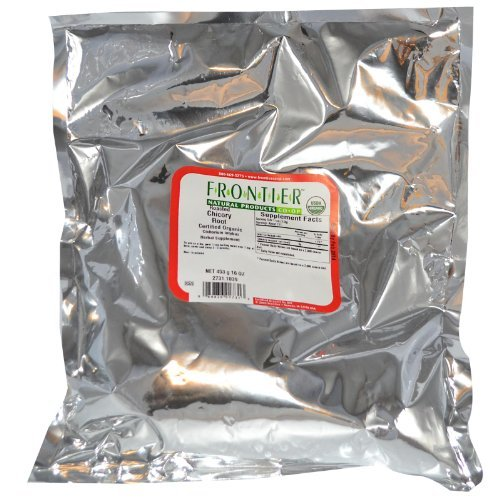 Frontier Bulk Chicory Root (Roasted) Granules (Drip-Grind), ORGANIC, 1 lb. package - 2PC ()
