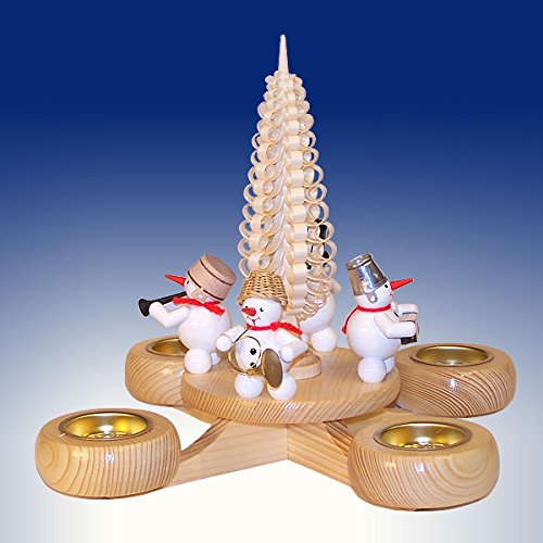 Advent candlestick snow man candlestick candlestick manual work Erzgebirge NEW 201/111