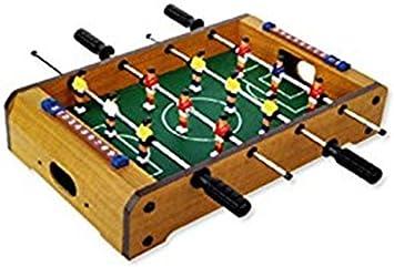 Futbolín de sobremesa de madera. 50 x 30 cm. Dakota. 1 unidad: Amazon.es: Juguetes y juegos