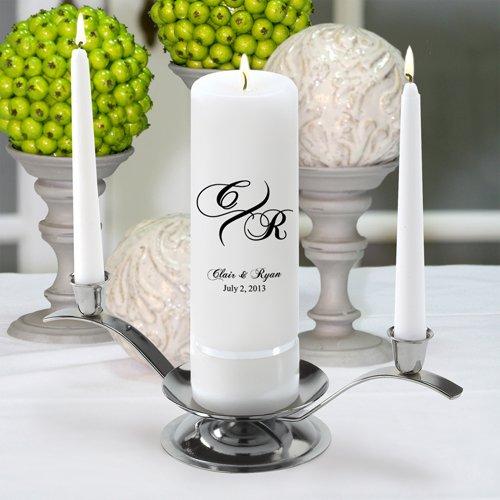 Personalized Unity Wedding Candle - Personalized Wedding Candle - Monogrammed Wedding Candle - Marquis -