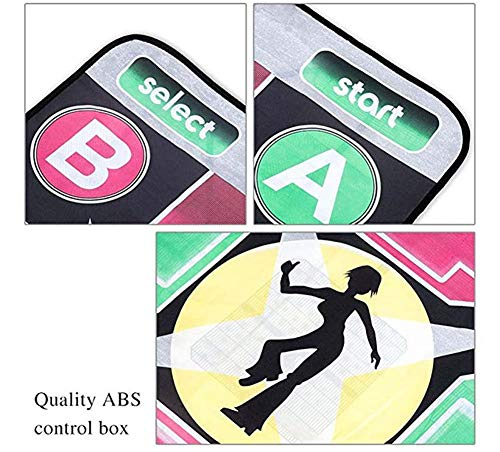 Puronic Non-Slip Dance Mats Rhythm and Beat Game Dancing Step Pads USB Lose Weight Pads Dancer Blanket with USB Entertainment for PC Laptop (Pattern 2, 8 mm Thick) by Puronic (Image #4)