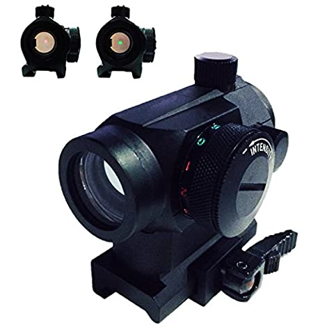 WNOSH Tactical Rifle Holographic Optic Gun Sights Mini Micro Reflex Green Red Dot Scope Sight with QD Quick Riser (Ar 15 Mini Red Dot)
